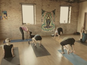 Our lovely Mysore class at Centered City Yoga!